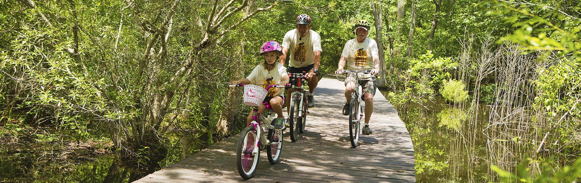 Biking at Magnolia Springs