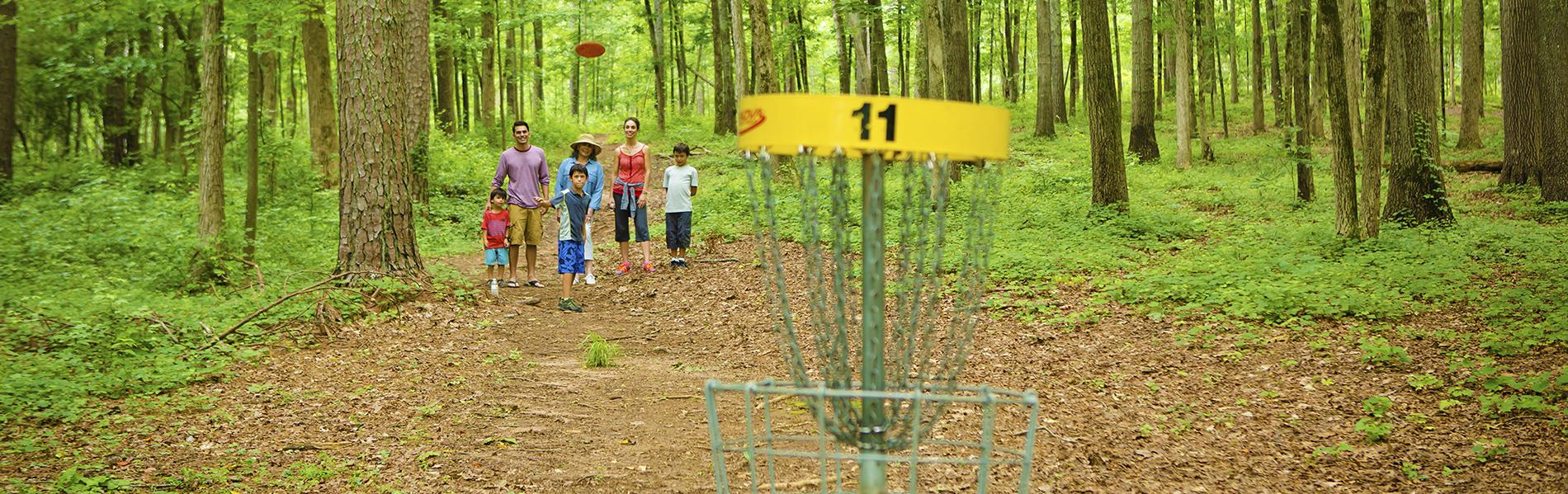 Disc Golfing at Fort Yargo