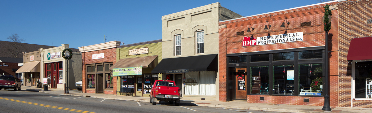 View of a historic downtown