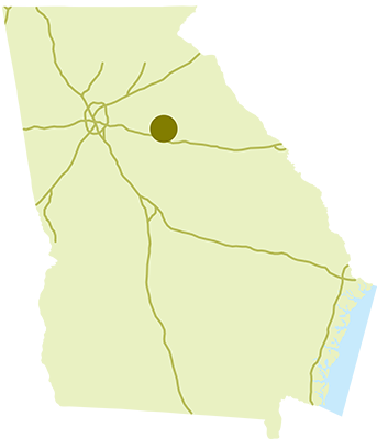 Hard Labor Creek State Park Location Map