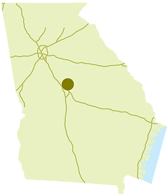 Jarrell Plantation State Historic Site Location Map