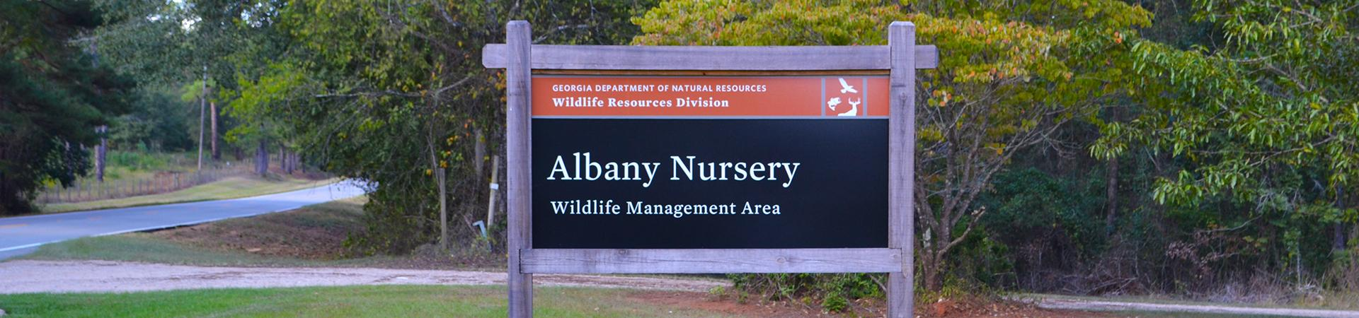 Albany nursery wma wildlife resources division for Georgia fishing license cost