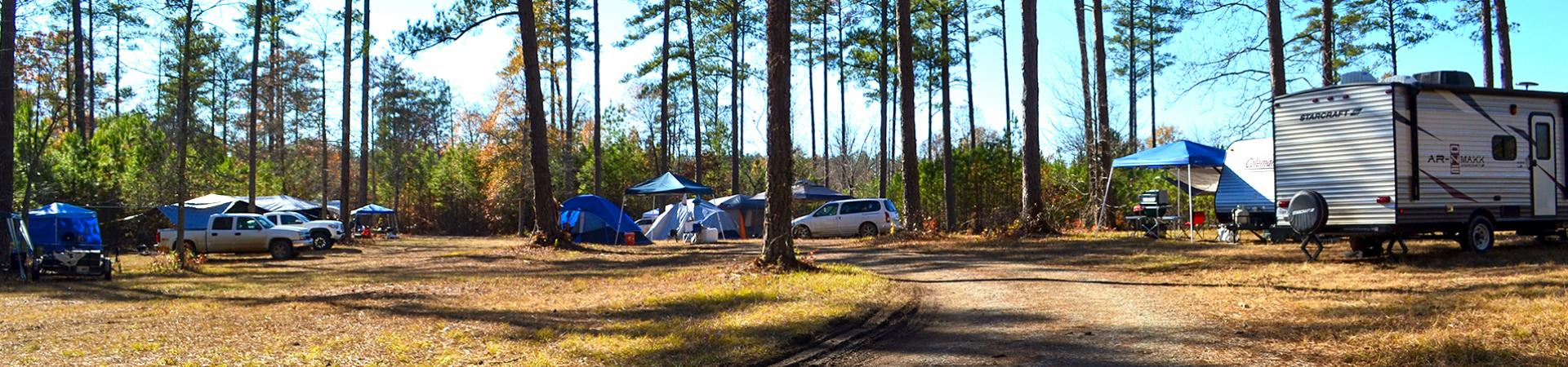 campgrounds at Berry College Wildlife Management Areas