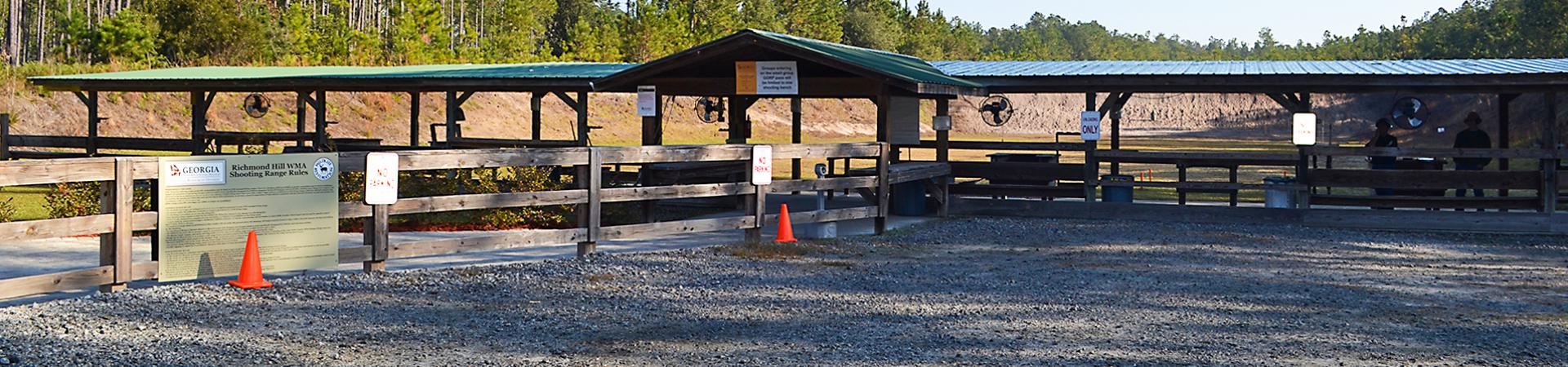 shooting range at Richmond Hill Wildlife Management Area