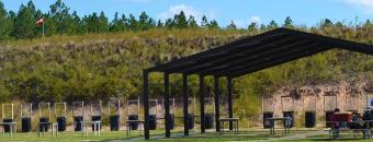 firearms range and targets on Chickasawhatchee Wildlife Management Area