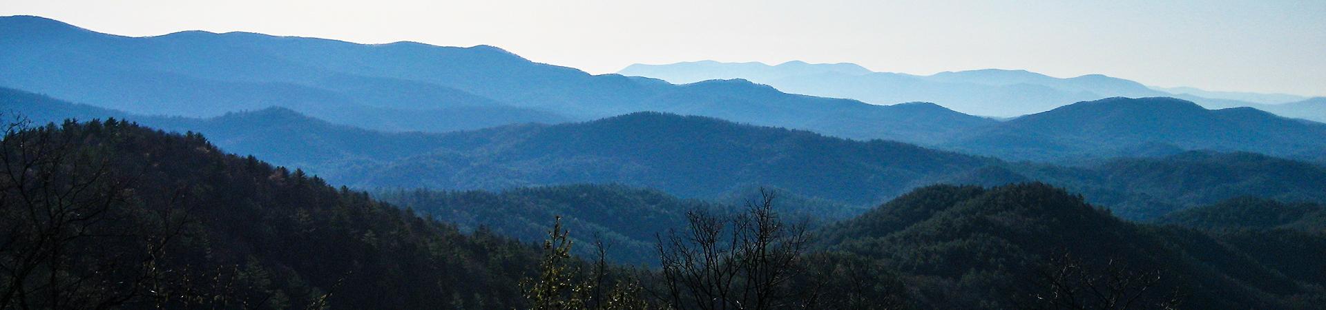 mountain range at Cohutta WMA