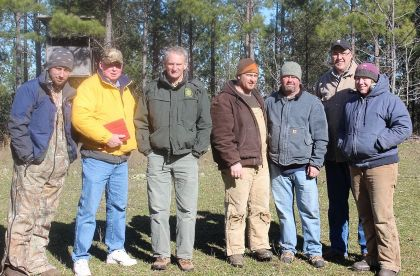 Club members and researchers. Credit: Devil's Backbone Hunting Club