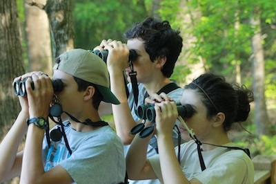 Youth Birding with Binoculars