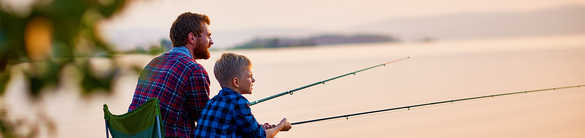 Dad and Kid Fishing
