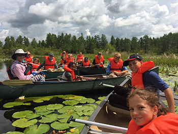 Kids in Canoes at the Okefenokee Swamp