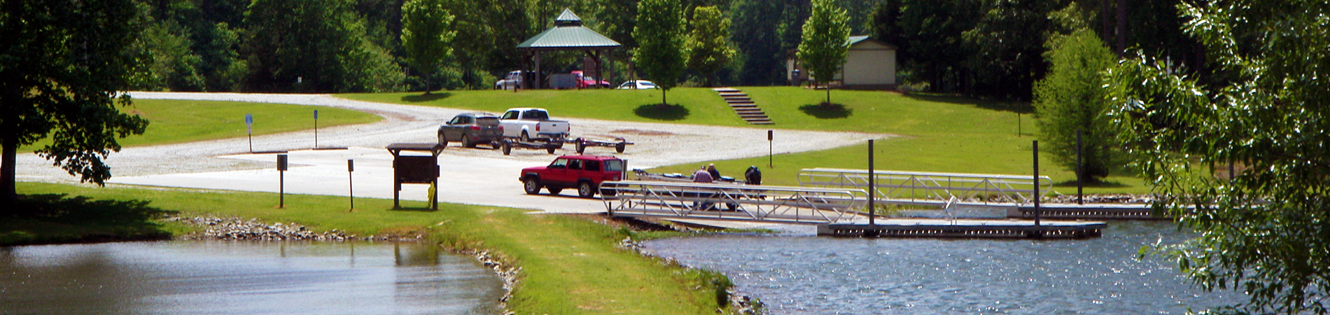 Boat Ramp at Big Lazer Creek