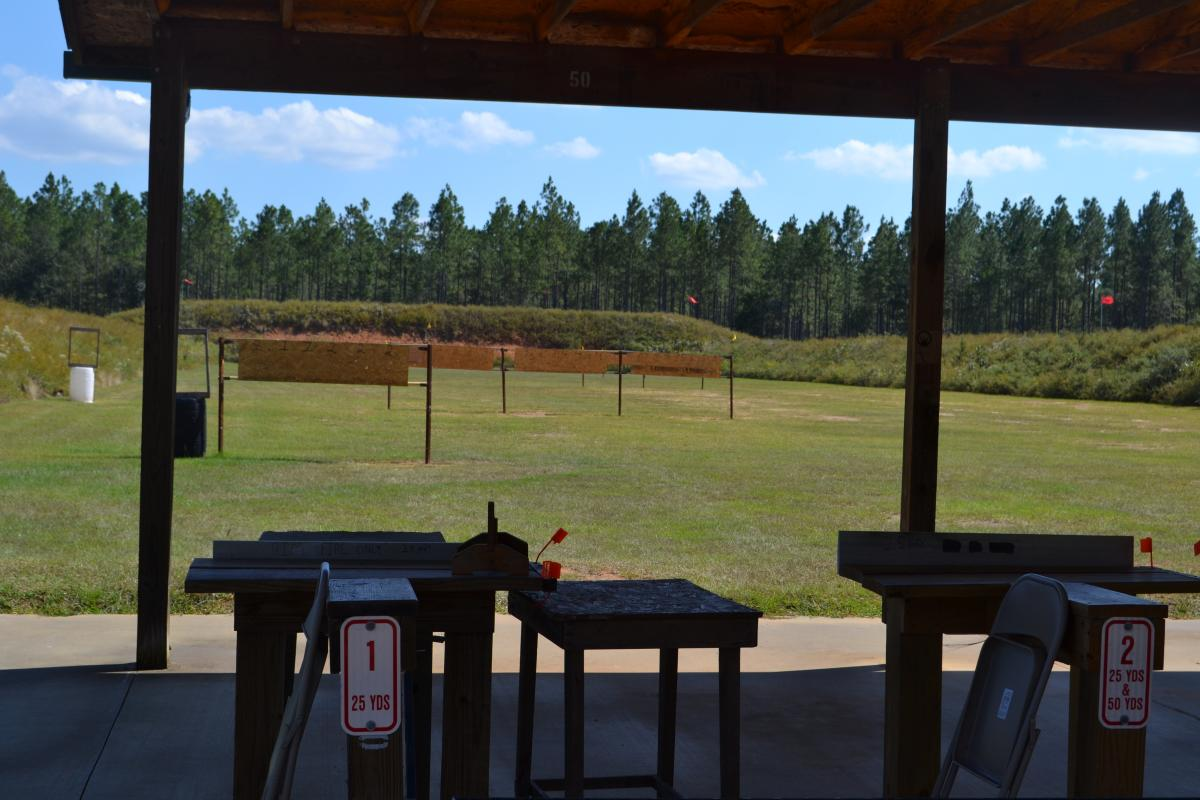 targets at shooting range
