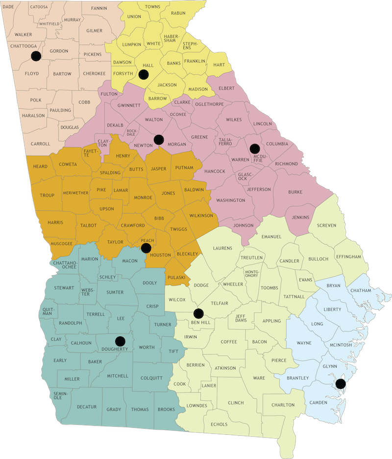 Game Management County Map