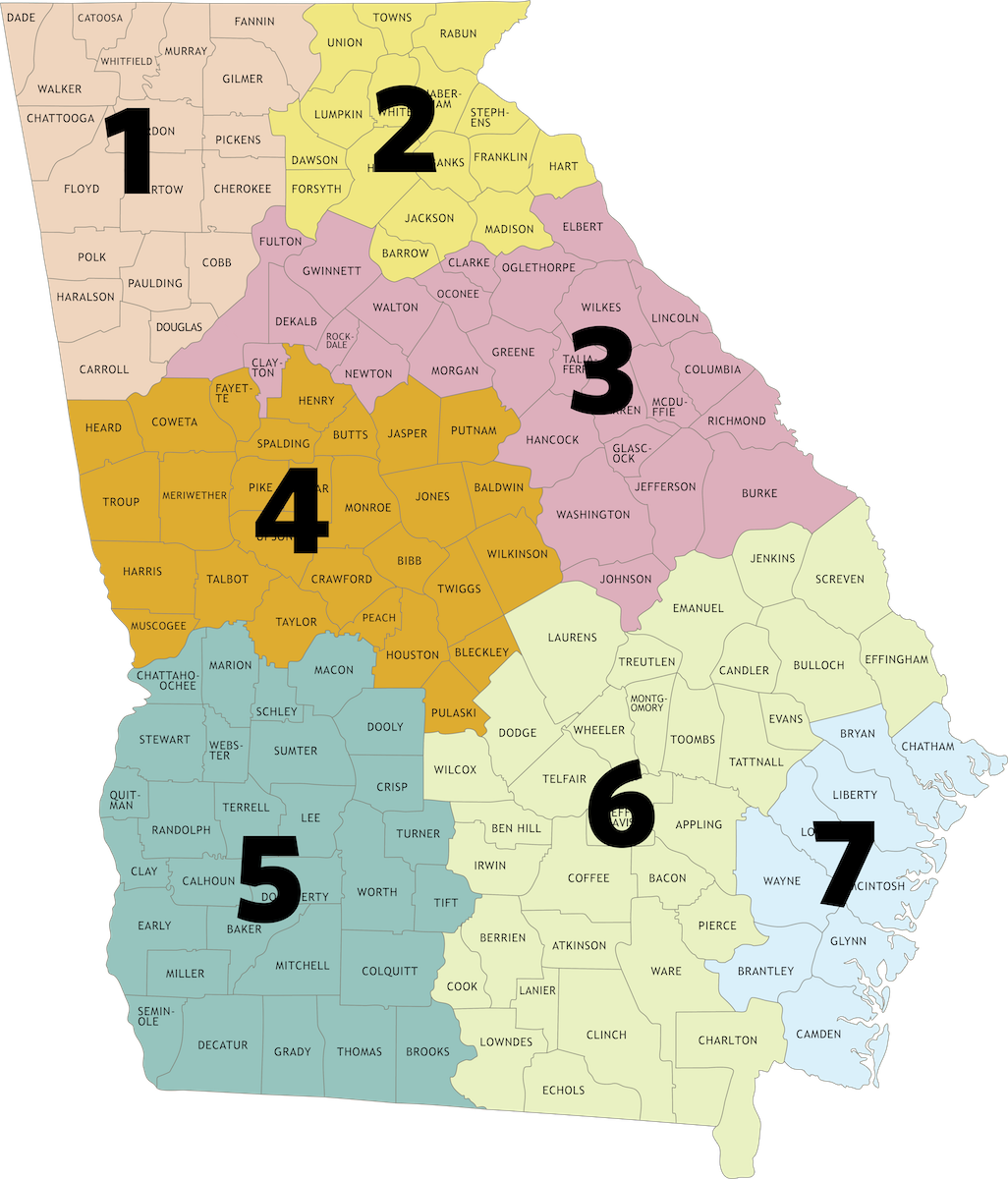 Map of all Regions
