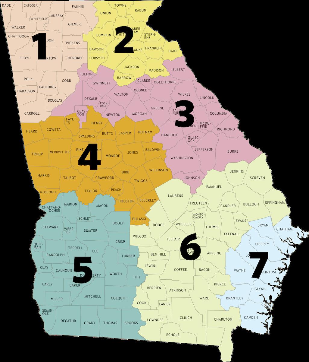 Map Of Southeast Georgia.Alerts Closures