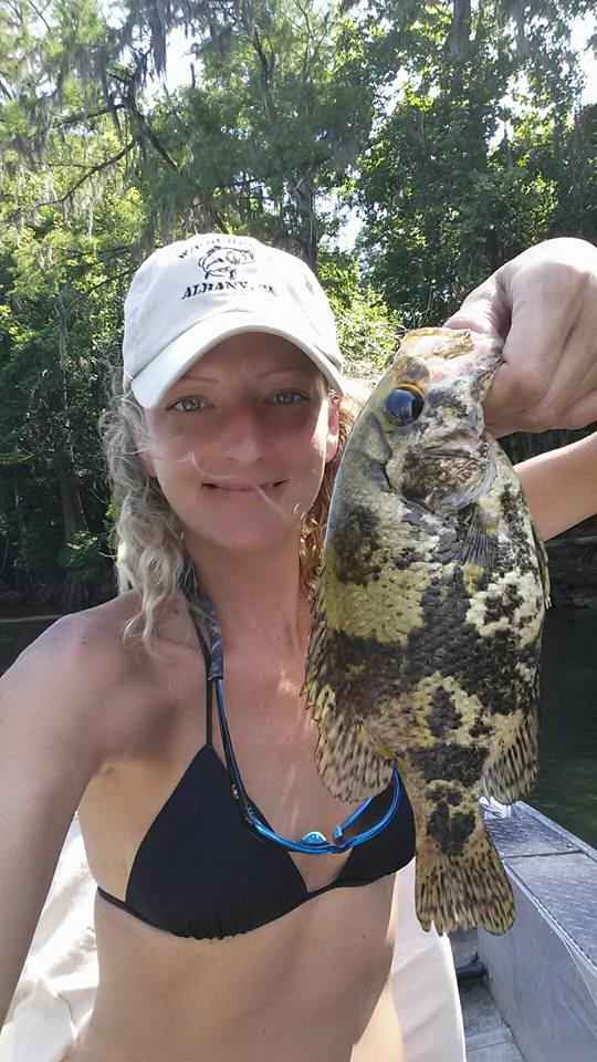 Kristen Brown's GA State Record Shadow Bass Sunfish